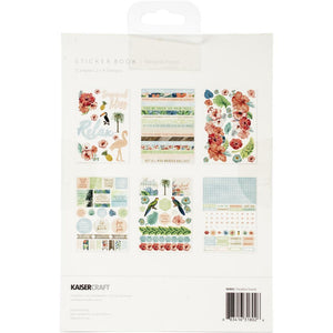 "Kaisercraft Sticker Book 6""X8"" 12/Pages Paradise Found, 6 Designs/2 Each"