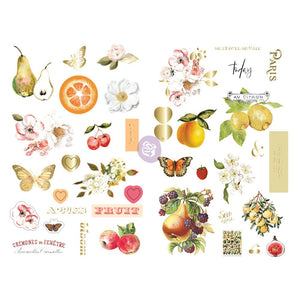 Prima Marketing Fruit Paradise Chipboard Stickers 39/Pkg