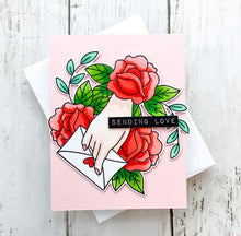 Load image into Gallery viewer, Waffle Flower Love Letter Combo Stamp and Die