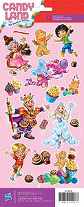 "Cardstock Stickers 4.75""X12"" Sheet Candy Land Characters"