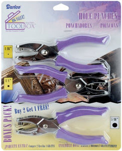 "Hole Punches 3/Pkg .0625"", .125"" & .3125"" Circles"