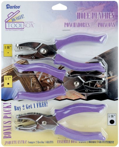 Hole Punches 3/Pkg .0625