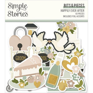 Happily Ever After Bits & Pieces Die-Cuts 60/Pkg