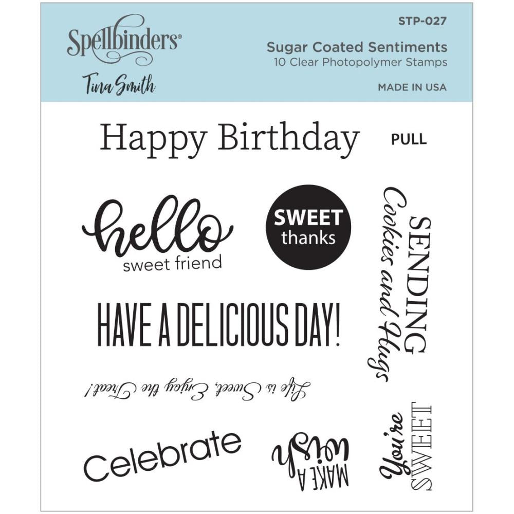 Spellbinders Clear Photopolymer Stamp Sugar Coated Sentiments