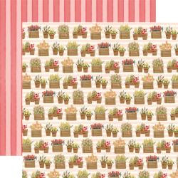 "Flower Market Double-Sided Cardstock 12""X12"" Planted Flowers"