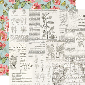 "Simple Vintage Botanicals Double-Sided Cardstock 12""X12"" Beautiful Days"