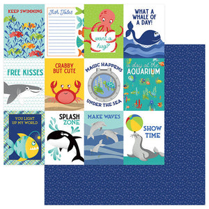"Fish Tales Double-Sided Cardstock 12""X12"" Splash Zone"