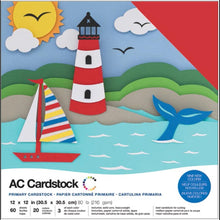 "Load image into Gallery viewer, American Crafts Variety Cardstock Pack 12""X12"" 60/Pkg"