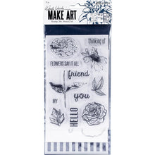 Load image into Gallery viewer, Wendy Vecchi Make Art Stamp, Die & Stencil Set Flower Say It All