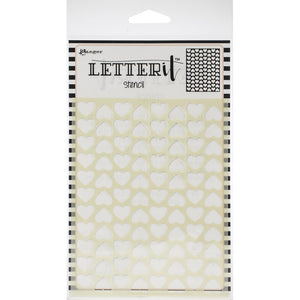 "Ranger Letter It Background Stencil 4.75""X6"""
