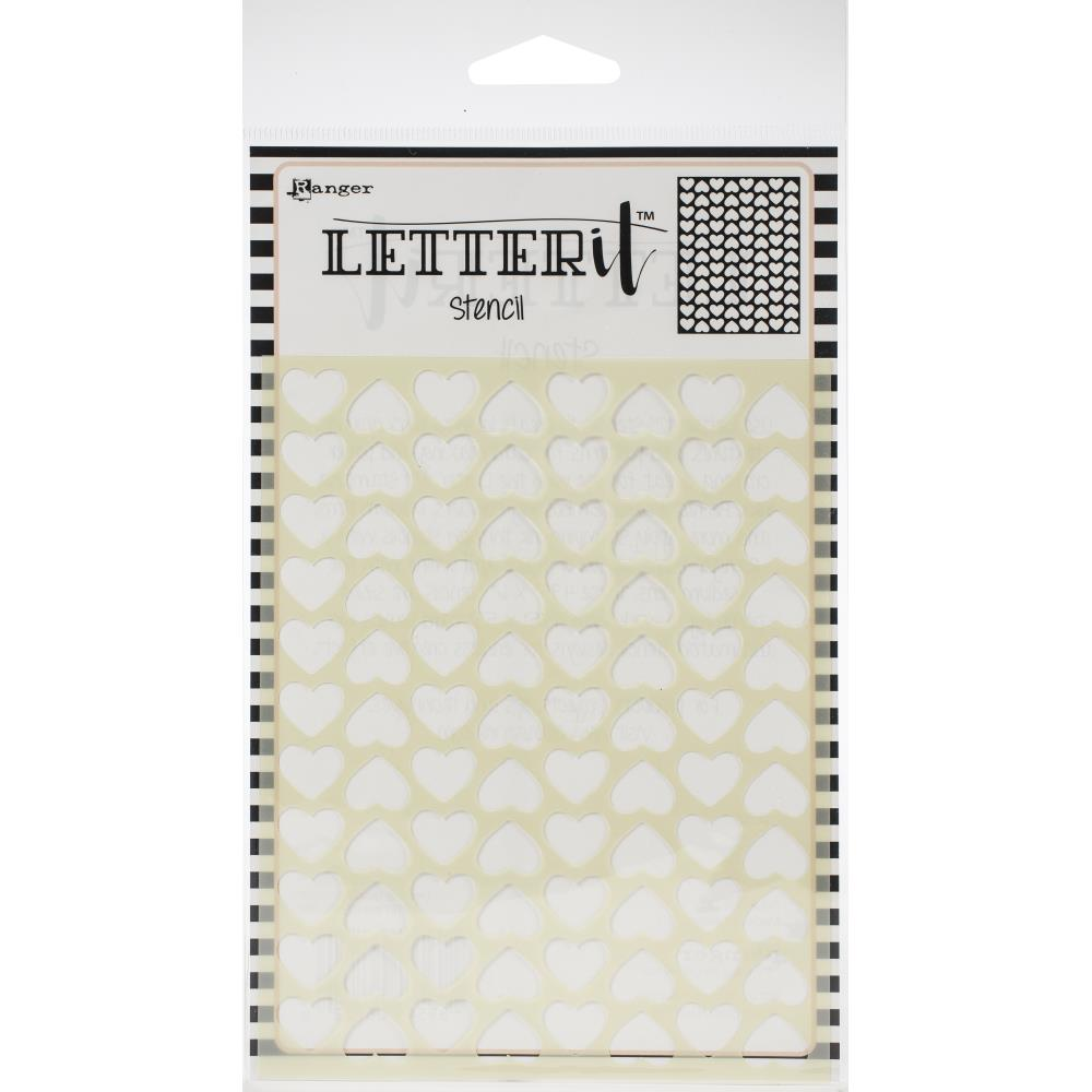 Ranger Letter It Background Stencil 4.75