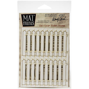 Studio 490 Wendy Vecchi Laser Cut Mat Minis Picket Fence