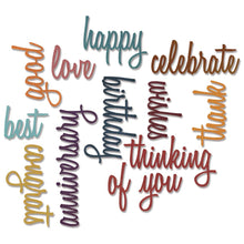 Load image into Gallery viewer, Sizzix Thinlits Die Set 13PK - Celebration Words: Script Item #660223