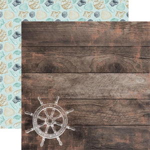 "Uncharted Waters Double-Sided Cardstock 12""X12"" Tide Pool"