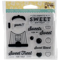 "Jillibean Soup Clear Stamps 4""X4"" Sweet Treat"