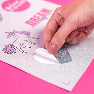 STICKER SHEETS - SILVER GLITTER