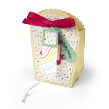 Load image into Gallery viewer, Sizzix Framelits Die & Stamp Set By Lori Whitlock Favor Bag W/Scallop Top
