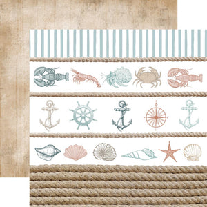 "Uncharted Waters Double-Sided Cardstock 12""X12"""