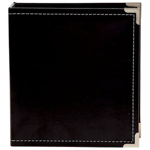 "Simple Stories Sn@p! Leather Binder 6""X8"" Black"