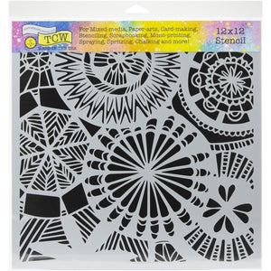"Crafter's Workshop Template 12""X12"" Floral Spectacle"