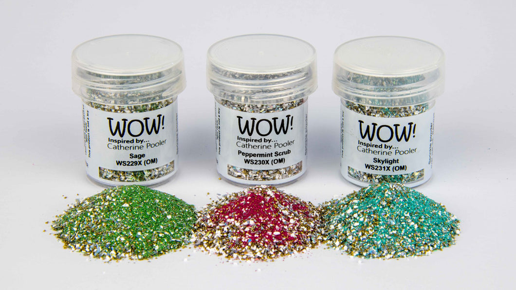 Wow Trio Embossing Glitters
