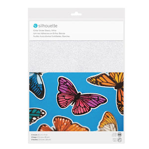 STICKER SHEETS - WHITE GLITTER