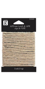 Studio G 3mm Jute Rope 3yds