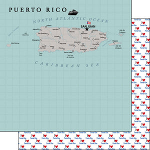 PUERTO RICO ADVENTURE MAP PAPER