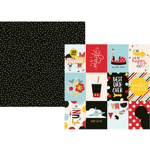 "Say Cheese 4 Double-Sided Cardstock 12""X12"" 3""X4"" Elements"