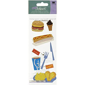 Touch Of Jolee's Dimensional Stickers Fast Food