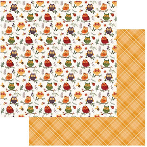 "Mad 4 Plaid Fall Double-Sided Cardstock 12""X12"" Whoo Loves You"