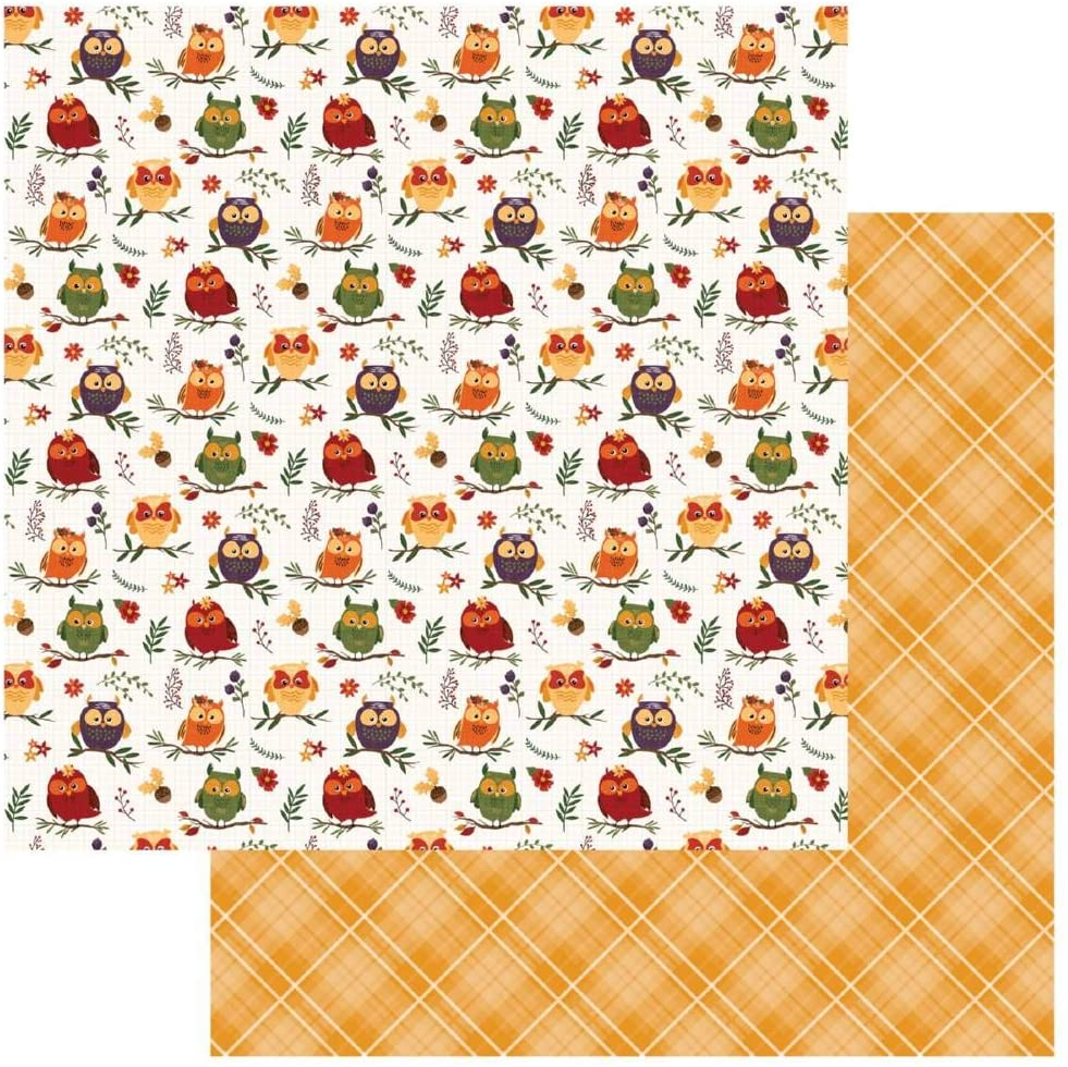 Mad 4 Plaid Fall Double-Sided Cardstock 12