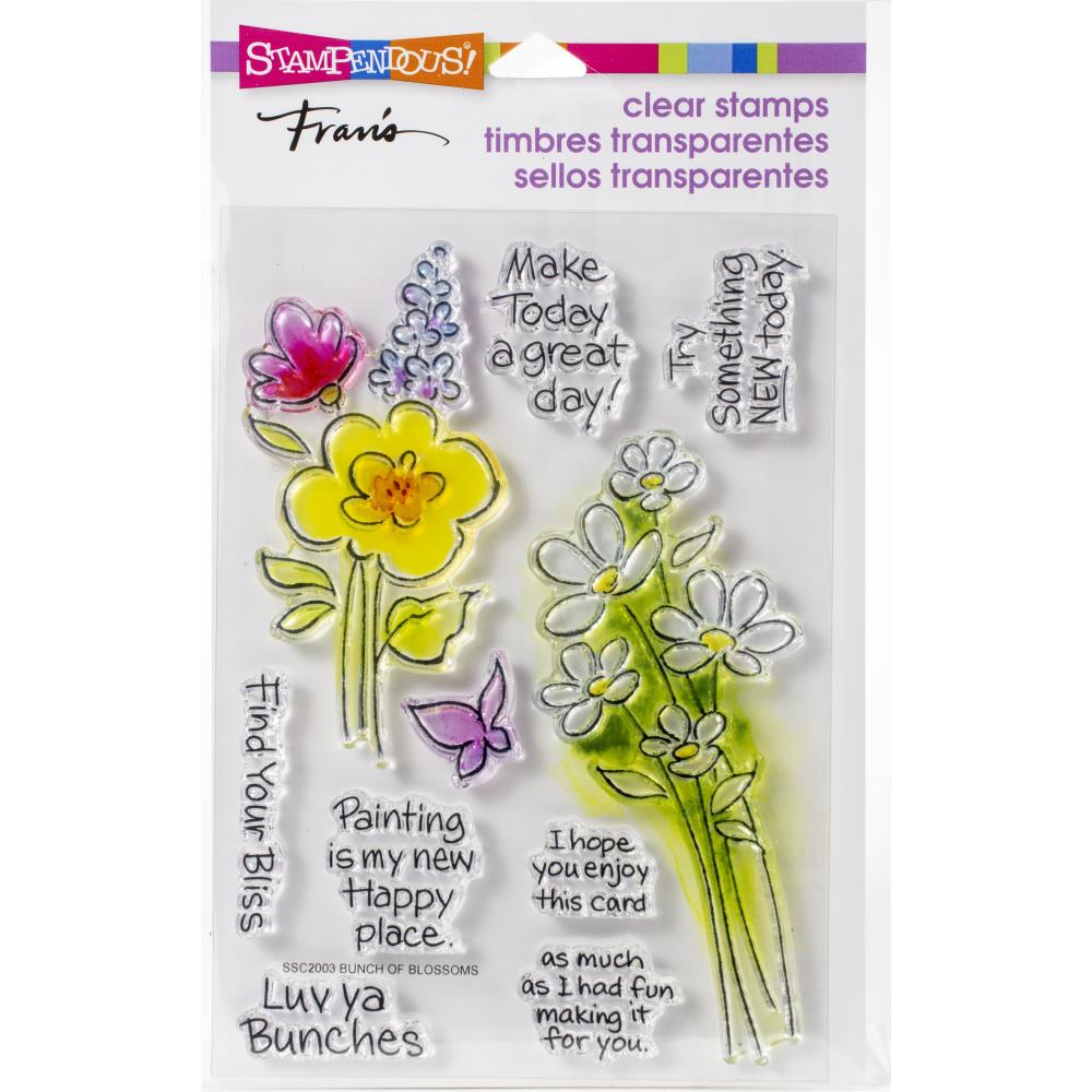 Stampendous Perfectly Clear Stamps Bunch of Blossoms