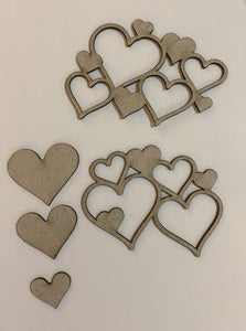 Heart Clusters Chipboard 10pcs Set #2