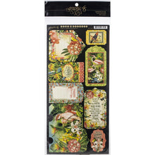 "Load image into Gallery viewer, Lost In Paradise Cardstock Die-Cuts 6""X12"" Sheets 2/Pkg Tags & pockets"