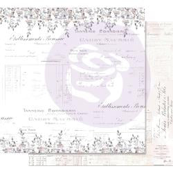 "Prima Marketing Lavender Frost Double-Sided Cardstock 12""X12 My Confession"