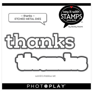 PhotoPlay Say It With Stamps Die Set Thanks