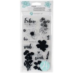 "Hampton Art Layering Clear Stamps 4""X8"" Flower Believe"