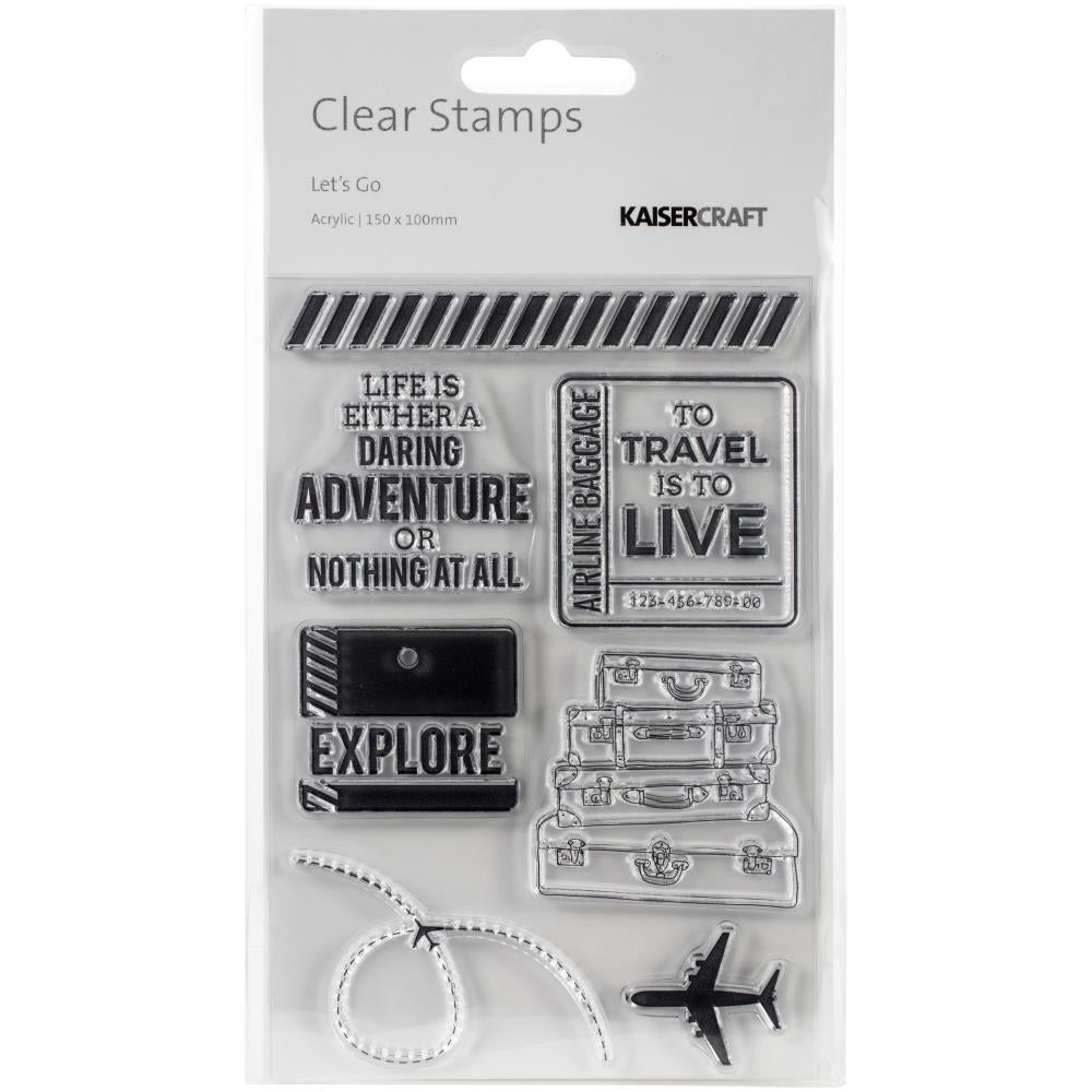 Let's Go Clear Stamps 6