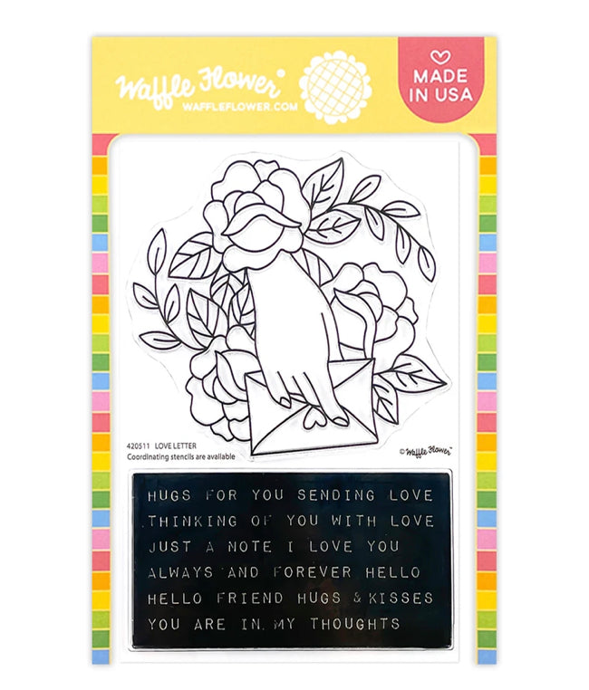 Waffle Flower Love Letter Combo Stamp and Die