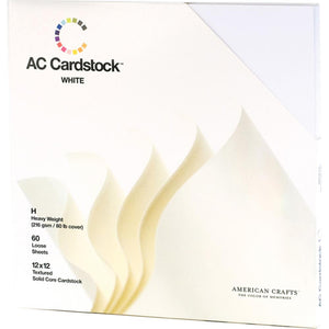 "American Crafts Textured Cardstock Pack 12""X12"" 60/Pkg"