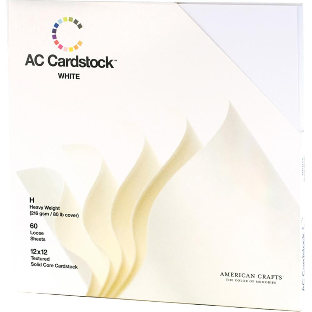 American Crafts Textured Cardstock Pack 12