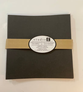 "Studio G 8 cards & envelopes Black 5""x5"""