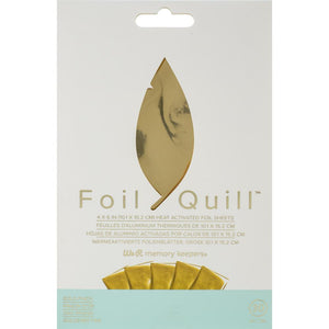 "We R Memory Keepers Foil Quill Foil Sheets 4""X6"" 30/Pkg"