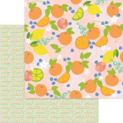 "Tutti Frutti Foiled Double-Sided Cardstock 12""X12"" Ambrosia"