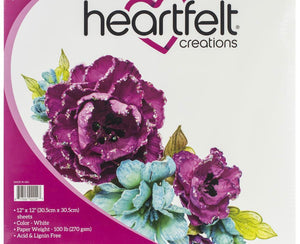 "Heartfelt Creations Flower Shaping Paper 12""X12"""