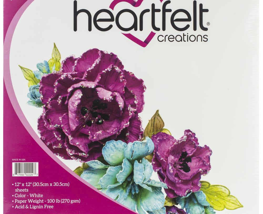Heartfelt Creations Flower Shaping Paper 12