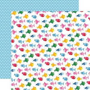 "I Love Summer Double-Sided Cardstock 12""X12"" Fish In The Sea"