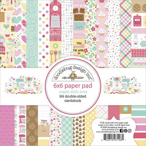 "Doodlebug Double-Sided Paper Pad 6""X6"" 24/Pkg Made with Love"