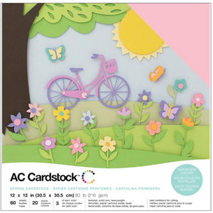 "American Crafts Variety Cardstock Pack 12""X12"" 60/Pkg"